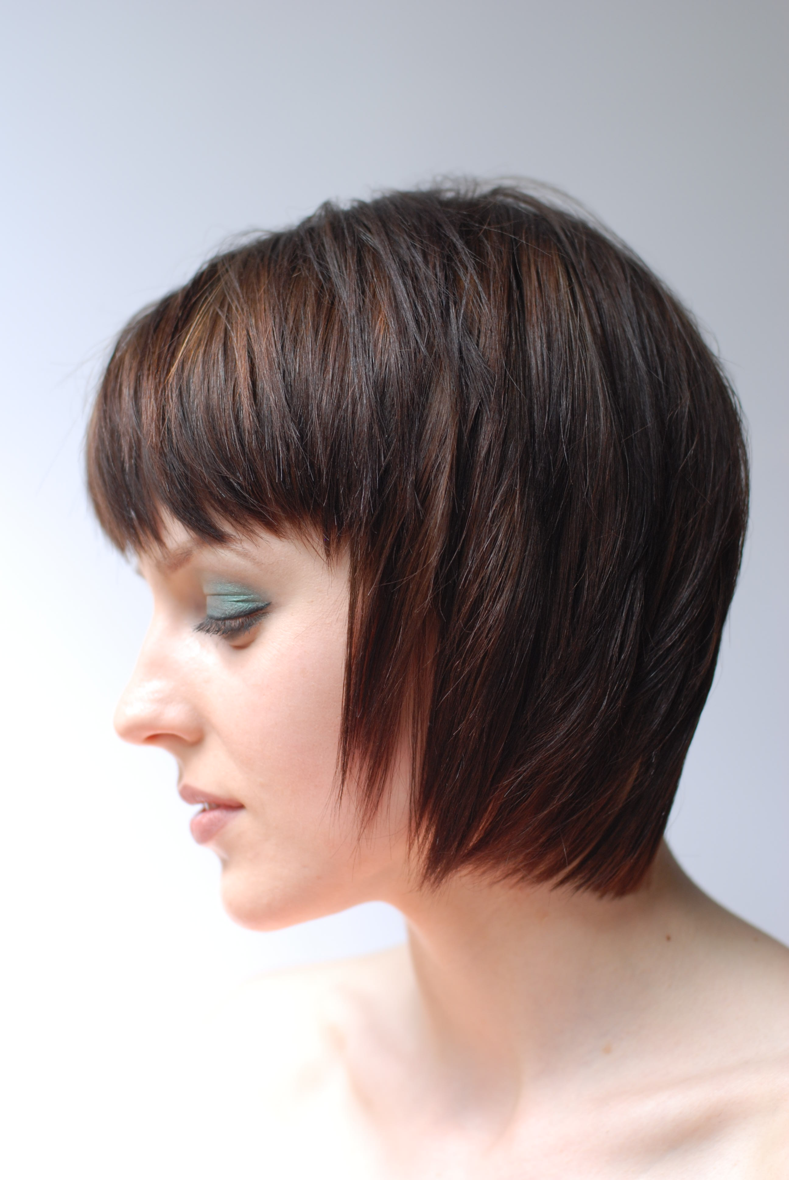 Layered Bob Haircut from the side